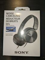 Sony MDR-ZX110NC Noise Canceling On-Ear Wired Headphones  - Black Brand New