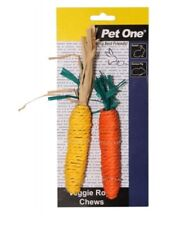Veggie Rope Dental Chews For Small Animals Rabbit Guinea Pig Carrot and Corn