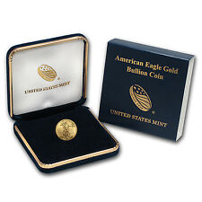 2017 1/10 oz Gold American Eagle Coin Brilliant Uncirculated BU with US Mint Box