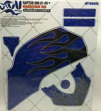 AMR Racing Graphics Kit Sale For Yamaha RAPTOR 660R 01-05 DIAMOND FLAME BLACK