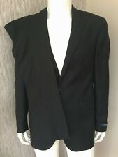POLO RALPH LAUREN CHARCOAL PINSTRIPE TWO PIECE SUIT 42R CUSTOM FIT 100% WOOL