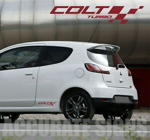 COLT CZT TURBO DECALS STICKERS (PAIR) RALLIART  MANY COLOURS