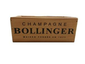 Wooden Storage Box Crate | Bollinger Champagne | Vintage Style Collectable