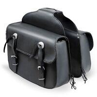 Motorbike Touring Saddle Bag Motorcycle Real Leather Waterproof Panniers Box