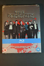 SEVEN PSYCHOPATHS STEELBOOK Bluray UK Edition New and Sealed