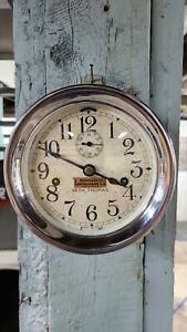 Seth Thomas Chrome Ship Clock. RARE, Double Wind Time Only. Originally Sold By