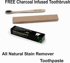 Charcoal Toothpaste Removes Bad Breath and Whitens Teeth + FREE Toothbrush