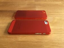 Apple iPhone 5 5S SE Ultra Slim matte Handyhülle 0,2mm Smartphone 1 Cover rot