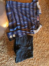 Haven Girl Lot Size 5 Long Sleeve Sequin Shirt And Shorts