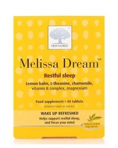 New Nordic Melissa Dream Tablets for Restful Sleep