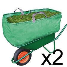 2 x Equestrian Stable Wheelbarrow Bag Heavy Duty Increased Capacity Straw 270L