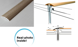 Dural Multifloor Door Bar Threshold  Strip Cover  Laminate Floor 1m Maple  36mm