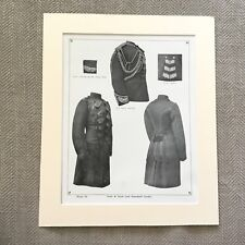 Antique Military Print Uniform British Army Frock Coat Household Cavalry Officer