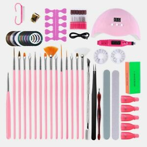 Gel Nail Polish Kit S Glitter Nail Electric Drill UV Dryer Lamp Manicure Set Led