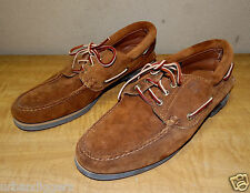 233/ Mens Leather Timberland Shoes / Slipon / Deck / Casual ~ Size 8 ~ New
