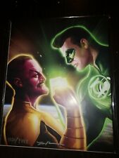 Justice league A4 print GREEN LANTERN limited edition A3 AUTOGRAPHED