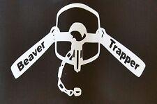 White Vinyl Beaver Trapper Dble Longspring #111 4x6 traps trap trapping