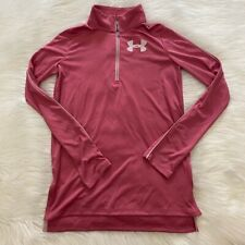 NEW wTag-UNDER ARMOUR Pink 1/4 Zip Pullover YLG