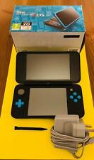 NINTENDO 2DS XL HANDHELD CONSOLE BOXED BLACK & TURQUOISE GREAT CONDITION