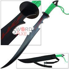 Zombie Massacre Machete Modern Day Sword 1045 Carbon Steel Sharp Green Walking