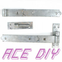 Bat and Band Gate Hinges | Galvanised Heavy Duty Hinge Hook Stable Shed Door