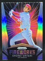 Shohei Ohtani 2019 Panini Silver Prizm Fireworks Insert #15 LA Angels