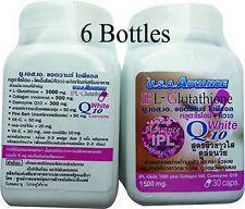 6X IPL Glutathione 1500 mg Whitening Collagen Q10 Vitamin C For Skin 30 Caps