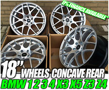 "18"" SILVER MOTORSPORT ALLOY WHEELS FITS BMW 1 M SPORT 3 SERIES 2 SERIES"