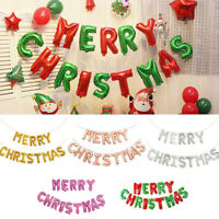 Fashion Merry Christmas Balloons Foil Helium Ballons Xmas Santa Inflating Banner