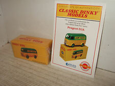 Atlas New Sealed Dinky Toys No 25B Peugeot D3A for Lampe Mazda and Certificate