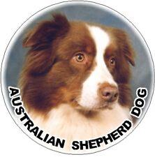 2 Australian Shepherd Dog Red Car Stickers By Starprint