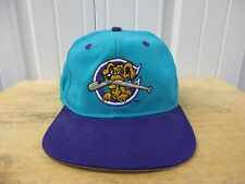 VINTAGE MILB CHARLESTON RIVERDOGS TEAL/PURPLE SEWN SNAPBACK HAT/CAP PRE-OWNED