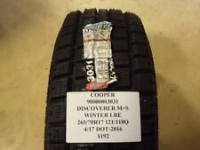 COOPER DISCOVERER M+S WINTER  265 70 17 121/118Q LRE BRAND NEW TIRE 90000003031