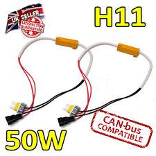 2 x H11 50w LED Errore cancelers 6ohm LED Fog Lights-Errore sicuro Free-CANBUS