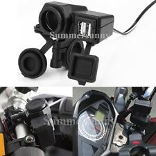 Motorcycle 12V Cigarette Lighter 2 USB Power Port Outlet Charger for iphone6 GPS