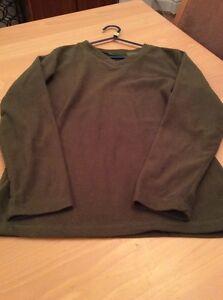boys clothes 11-12 years Primark Olive Green Polyester Fleece Sweatshirt Top