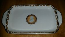 """Vintage Cameo Germany design small plate T. Bavaria <8"""" GC white and gold"""
