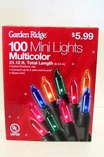 100 Multi Mini Green Wire End To End Indoor/Outdoor Lights Christmas Decoration
