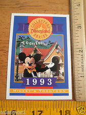 Disneyland 40 Years Collectors series card 1993 Mickey's Toontown #ed LE
