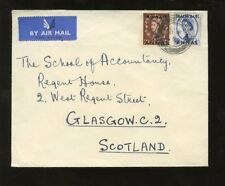 KUWAIT 1954 WILDING SURCHARGES 2A + 4A to SCOTLAND