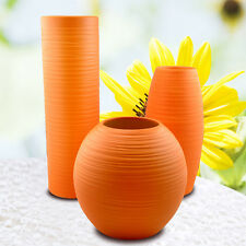New Modern Height30/25/16CM Freshing Home Decoration Ceramic Orange Vases 3Pcs