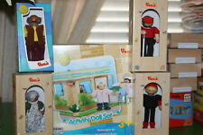 NIB VOILA wooden 5 BOX  DOCTOR'S CLINIC DOLL TOY SET