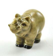 Vintage Chinese Japanese Hippopotamus Hippo Rhinocero Resin Figurine Netsuke
