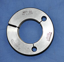 Ring Thread No-Go Gage 2-12 NS  NS3 Great condition 2.000-12 Greenfield