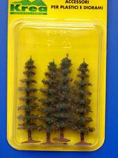 Alberi di conifere per modellismo verde bruciato 4 pz. H. cm. 8 HO 1/87 - Krea