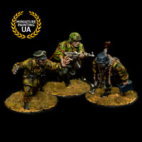 ⭐️Bolt Action Axis WWII 28mm Wargame German Elite Infantry Pro Painted Squad