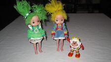 "Rainbow Brite 8"" Dolls Lot with Light Up Sprite Twink Patty O' Green"