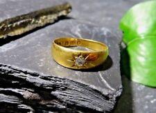 Antik 750 18 K Gold Ring Diamant 0,1 Ct Biedermeier Viktorianisch England 19 Jhd
