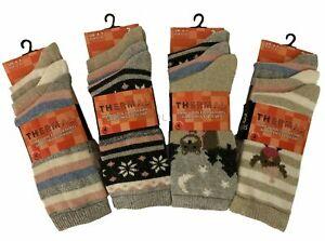 Women Ladies Thick Winter Thermal Socks Warm Wool Nordic Novelty Sock   UK 4-7