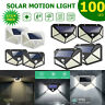 100LED Solar Power PIR Motion Sensor Wall Lights Outdoor Garden Lamp Waterproof^